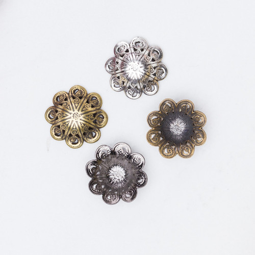 11mm & 12mm | Swirl Filigree Element | 12 Pieces