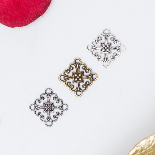 11mm & 12mm | Filigree Element | 12 Pieces
