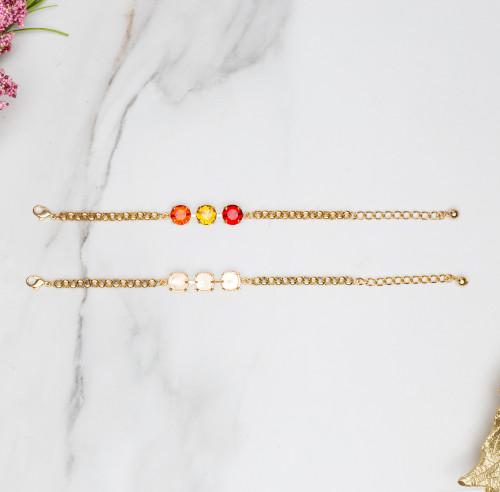 11mm | Classic Three Setting Bracelets | Three Pieces