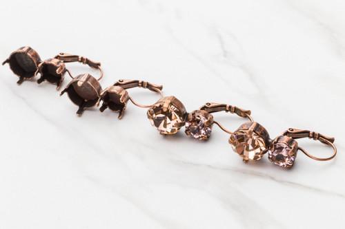 8.5mm & 11mm | Asymmetrical Drop Earrings | Three Pairs