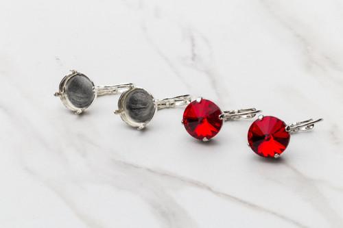 12mm Rivoli | Classic Drop Earrings | Three Pairs