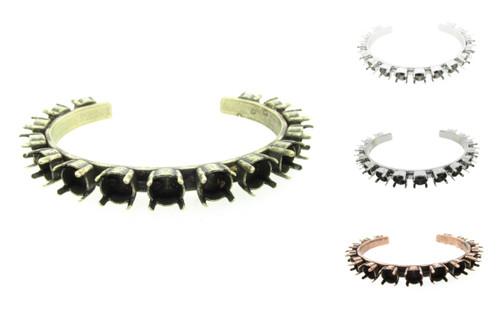 Empty Cuff Bracelets 15 8.5mm Settings
