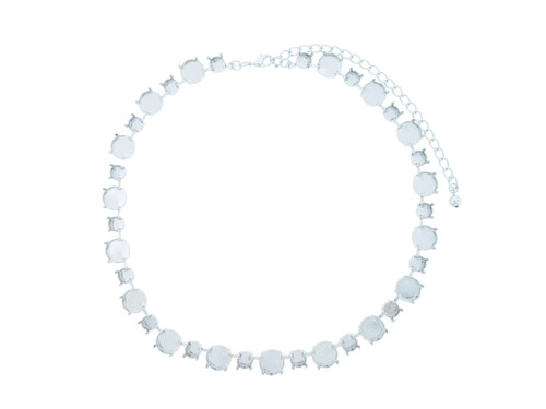8.5mm and 12mm Rivoli Round Alternating Necklace