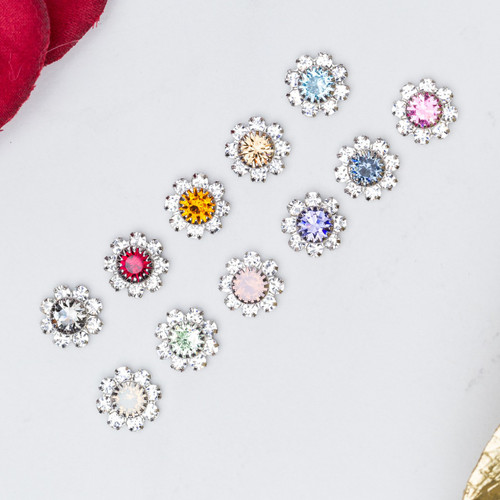 8.5mm | Austrian Crystal Daisy Elements | Six Pieces