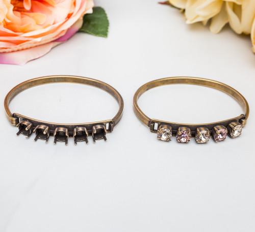 8.5mm | Five Setting ID Bracelet | Three Pieces