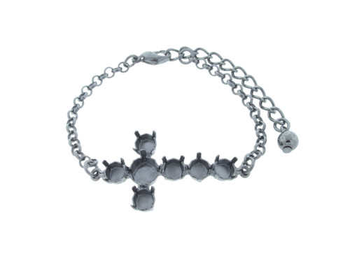 6mm (29ss) & 8.5mm (39ss) Cross Empty Bracelet 3 Pieces - Small Smooth Or Textured Rolo Chain