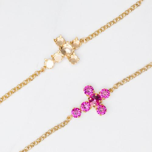 8.5mm & 11mm | Cross Bracelet | Three Pieces