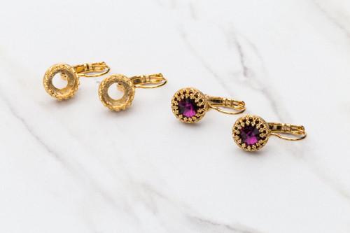 8.5mm | Crown Drop Earrings | Three Pairs