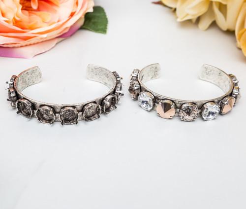 12mm Round | Statement Cuff Bracelet | Three Pieces