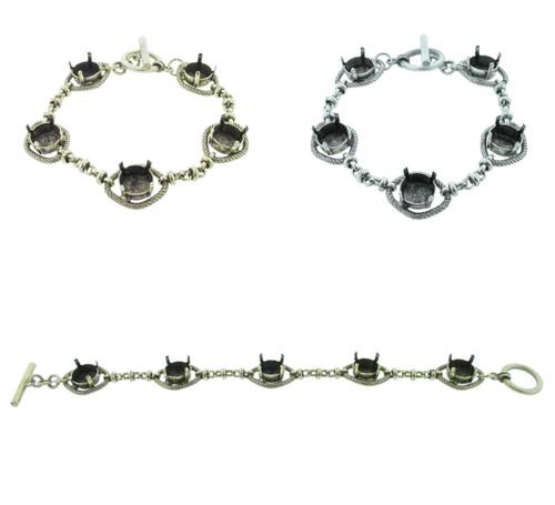 11mm | Five Setting Statement Bracelet | One Piece