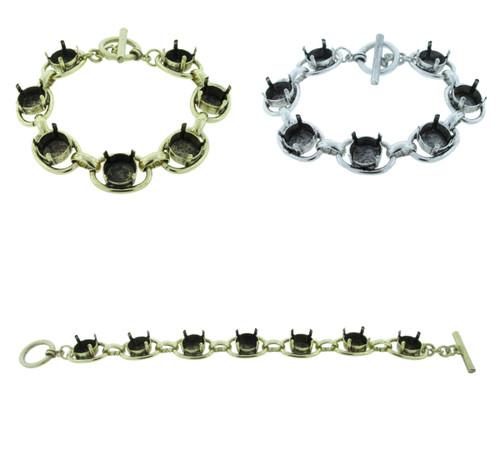 11mm | Seven Setting Statement Bracelet | One Piece