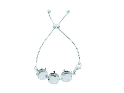 12mm Square | Three Setting Adjustable Slider Anklet | One Piece