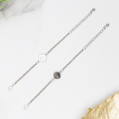 12mm Square | Crown Single Setting Bracelet | One Piece