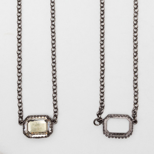 18mm x 13mm Octagon | Crown Pendant Necklace | One Piece