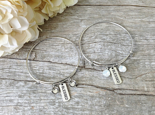 8.5mm | Blessed Charm Bangle Bracelet | One Piece