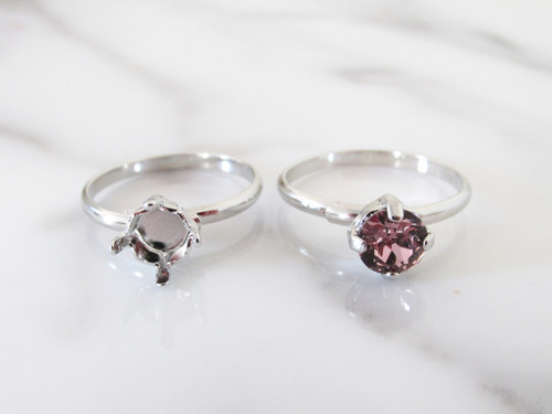 6mm (29ss) Simple Band Adjustable Ring
