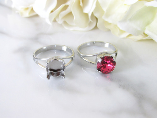 8.5mm   Classic Band Adjustable Ring   Three Pieces