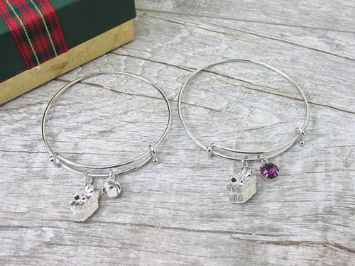 8.5mm | Present Gift Charm Bangle Bracelet | One Piece