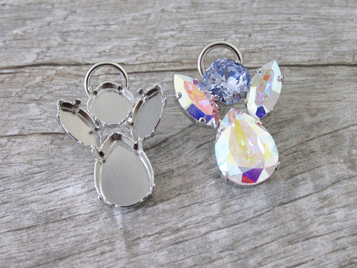 10mm Square, 15mm x 7mm Navette, & 18mm x 13mm Pear   Angel Pin   One Piece