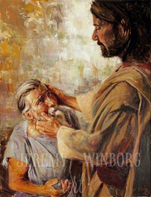 The Blind Man of Bethsaida Giclée Print