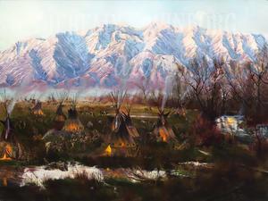 Cache Valley Encampment Giclée Print Studio Sale