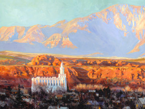 Zion's Light Large Giclée Print Studio Sale