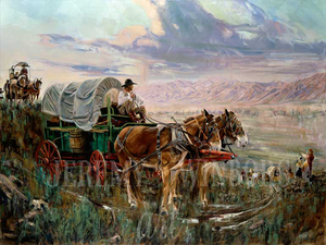 Entering our Cache Valley Home Giclée Print