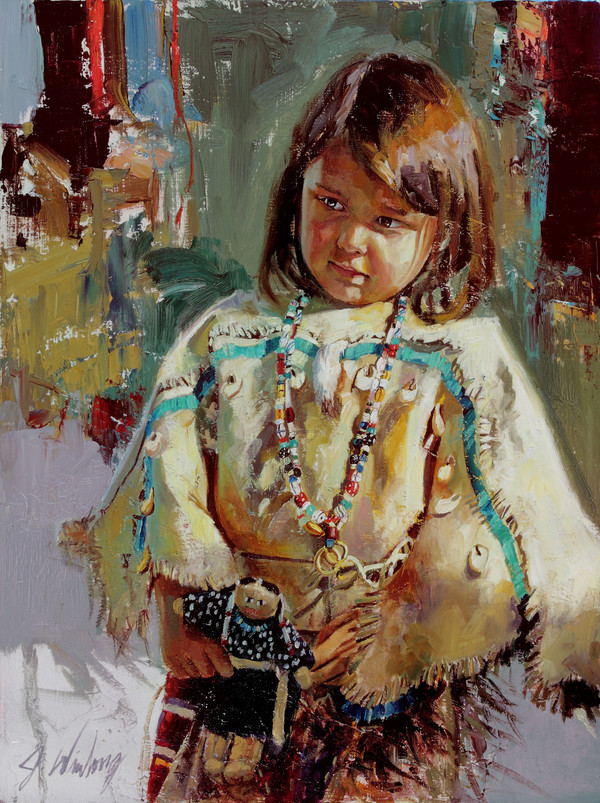 Ready to Play Original Oil Study (SOLD)