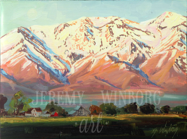 Wellsville Morning Original Oil Study (SOLD)