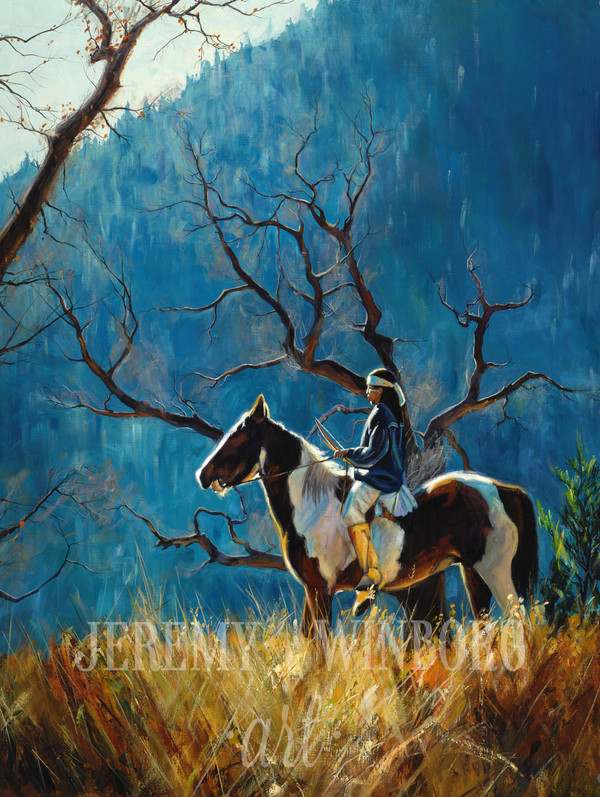 Blue Ridge Solace Vertical Giclée Print