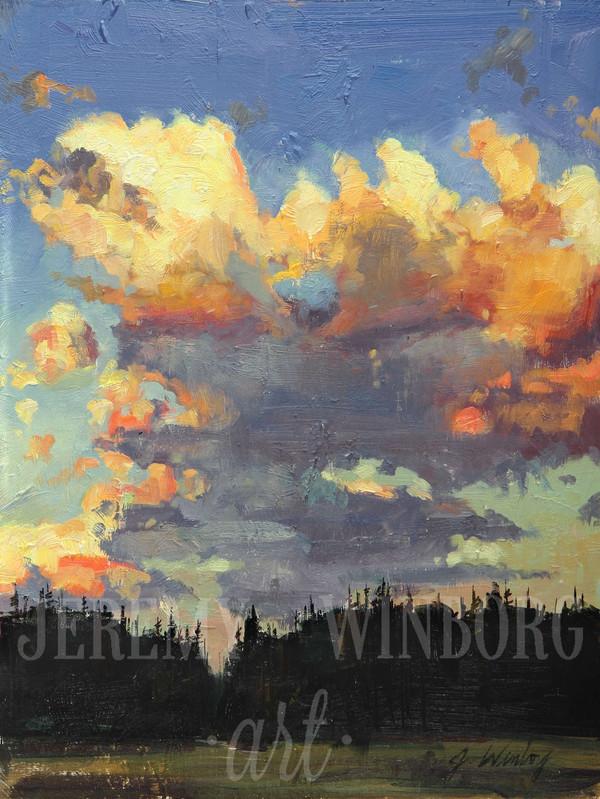 Teton Clouds Giclée Print