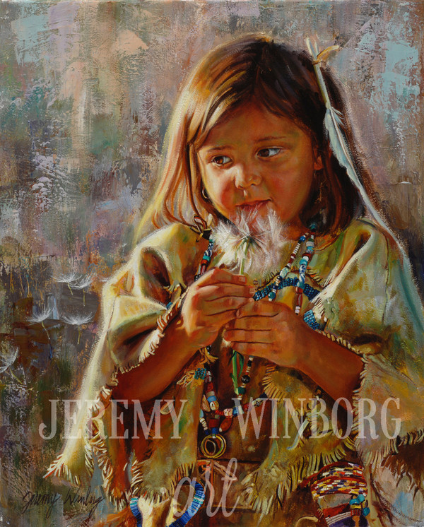 Little Flower Portrait Original (SOLD)