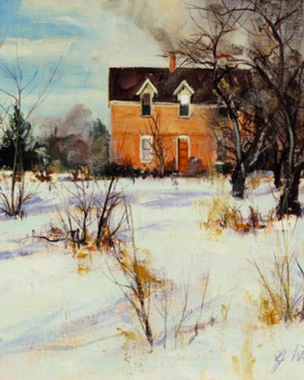 Winter House Original (SOLD)