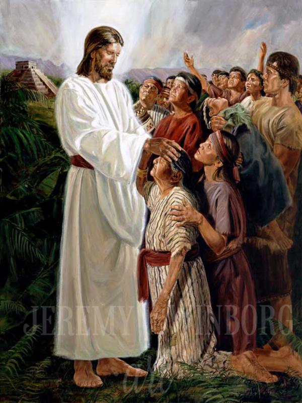 For He Healed Them Giclée Print