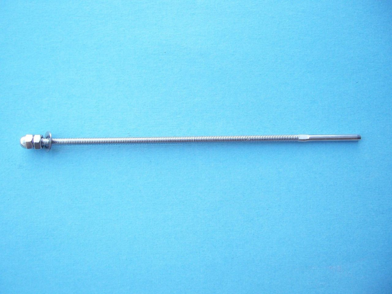 "Type 316 Stainless Steel Long End Fitting for Cable Railing - for 1/8"" Cable"