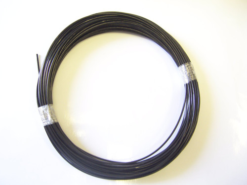 """BLACK Vinyl Coated Cable, 1/16"""" - 3/32"""", 100 ft Coil"""