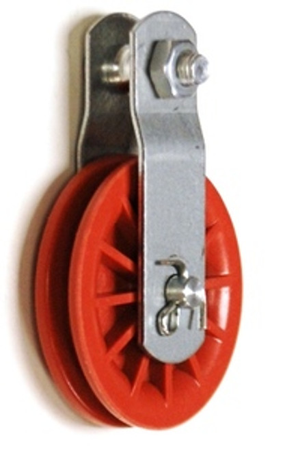 """2-1/2"""" Red Nylon Composite Pulley"""