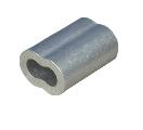 "Aluminum Sleeve for Wire Rope 1/4"", Made in USA"
