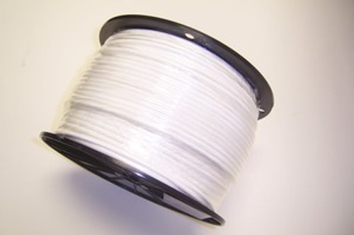 "WHITE Vinyl Coated Cable, 1/8""-3/16"", 7x7, 500 ft reel."
