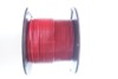 """RED Vinyl Coated Cable, 1/8""""-3/16"""", 7x7, 250 ft reel."""