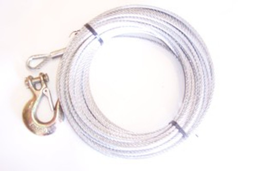 "Galvanized Winch Cable 3/16"" x 100 ft"