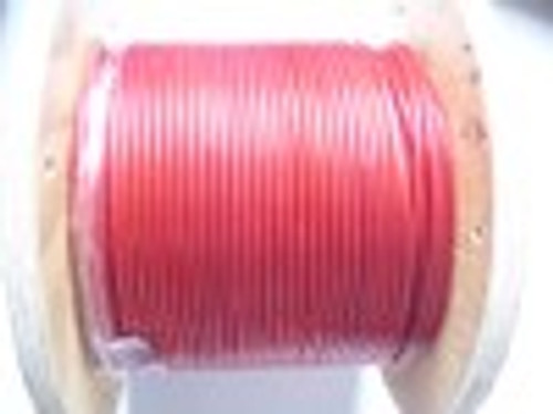 "RED Vinyl Coated Stainless Steel Wire Rope, 1/8"" - 3/16"", 7x19, per ft"