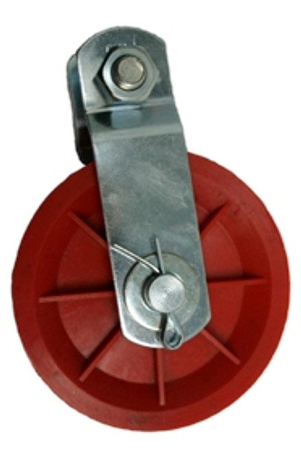 """3-1/2"""" Plastic Wire Rope Pulley"""