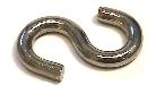 "S-Hook 1/4"" x 2"", 100 pieces"