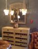 Rustic Reclaimed Wood Wine Buffet Cabinet