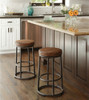 Industrial Style Counter Stool - Reclaimed Wood