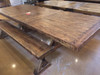 Rustic Farmhouse X Base Extension Dining Table & Benches