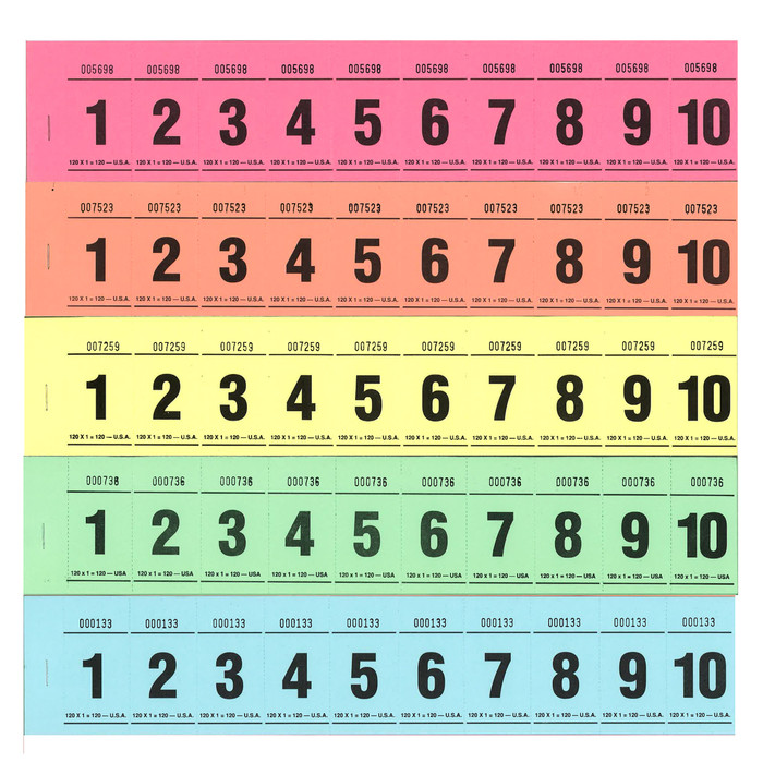Paddle Tickets - 120 x 1