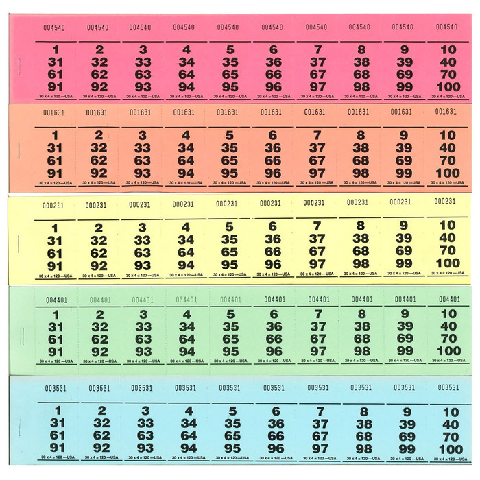 Paddle Tickets - 30 x 4