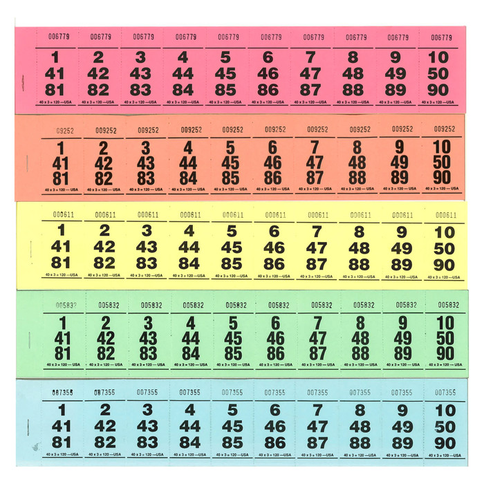 Paddle Tickets - 40 x 3